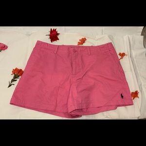 classic pink ralph lauren sports shorts